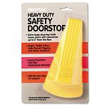 "Giant Foot Doorstop No-Slip Rubber Wedge 3-12""w x 6-34""d x 2""h Safety Yellow (MAS00966)"