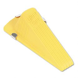 "Giant Foot Magnetic Doorstop No-Slip Rubber Wedge 3-12""w x 6-14""d x 2""h Yellow (MAS00967)"