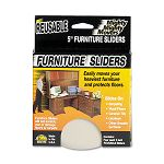 "Mighty Mighty Movers Furniture Sliders Round 5"" Dia. Beige Pack of 4 (MAS87007)"