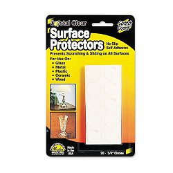 Scratch Guard Self-Adhesive Clear Surface Protectors 34 Dia. Circles Pack of 20 (MAS88600)