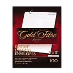"Gold Fibre Fastrip Catalog Envelope Side Seam 9"" x 12"" White Box of 100 (AMP73127)"