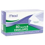 "Security Envelope 3-58"" x 6-12"" 20 Lb. White Box of 80 (MEA75212)"