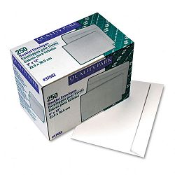 "Open Side Booklet Envelope Contemporary 12"" x 9"" White Box of 250 (QUA37682)"