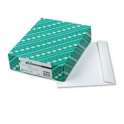 "Open Side Booklet Envelope Contemporary 12"" x 9"" White Box of 100 (QUA37693)"