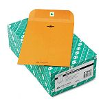 "Clasp Envelope 6-12"" x 9-12"" 32 Lb. Light Brown Box of 100 (QUA37763)"