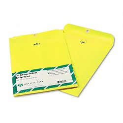 "Fashion Color Clasp Envelope 9"" x 12"" 28 Lb. Yellow Pack of 10 (QUA38736)"