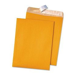 "100% Recycled Brown Kraft Redi-Strip Envelope 9"" x 12"" Light Brown Box of 100 (QUA44511)"