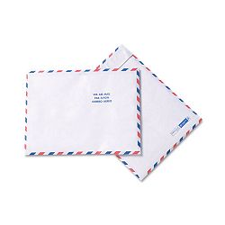 "Tyvek USPS Air Mail Mailer Side Seam 10"" x 13"" White Box of 100 (QUAR1600)"