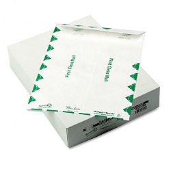 "White Leather Tyvek Mailer First Class 9"" x 12"" White Box of 100 (QUAR3130)"