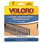 Sticky-Back Hook and Loop Fastener Roll 15 Inches Clear (VEK91325)