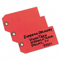 "Shipping Tags Paper 4-34"" x 2-38"" Red Pack of 1000 (AVE12345)"