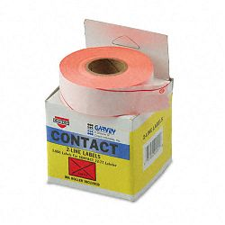 "Two-Line Pricemarker Labels 58"" x 1316"" Fluor. Red 1000Roll 3 RollsBox (COS090951)"