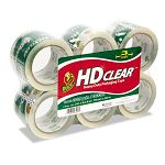 "Carton Sealing Tape 3"" x 55 yards Clear Pack of 6 (DUC0007496)"