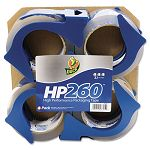 "HP260 Packaging Tape with Dispenser 1.88"" x 60 yard 3"" Core Pack of 4 (DUC0007725)"