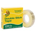 "Permanent Double-Stick Tape 12"" x 900"" 1"" Core Clear (DUC1081698)"