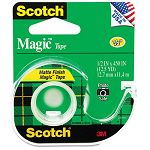 "Magic Office Tape with Refillable Dispenser 12"" x 450"" Clear (MMM104)"