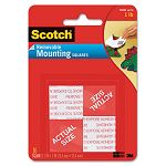 "Precut Foam Mounting 1"" Squares Double-Sided Removable 16 SquaresPack (MMM108)"
