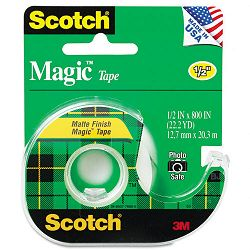 "Magic Office Tape with Refillable Dispenser 12"" x 800"" Clear (MMM119)"