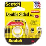 "665 Double-Sided Office Tape with Hand Dispenser 12"" x 450"" (MMM137)"