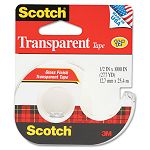 "Transparent Glossy Tape with Hand Dispenser 12"" x 1000"" Clear (MMM174)"