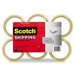 "Lightweight Shipping Packaging Tape 1.88"" x 54.6 yds Clear Pack of 6 (MMM33506)"