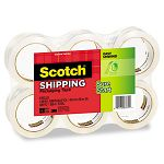 "3500 Packaging Tape 1.88"" x 54.6 yards 3"" Core Clear 6 per Box (MMM35006)"