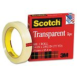 "Transparent Glossy Tape 34"" x 72 yards 3"" Core Clear (MMM600342592)"