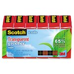 "Transparent Greener Tape 34"" x 900"" 1"" Core 6 Rolls (MMM6126P)"