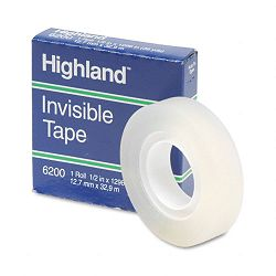 "Invisible Permanent Mending Tape 12"" x 1296"" 1"" Core Clear (MMM6200121296)"