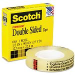 "665 Double-Sided Office Tape 12"" x 900"" 1"" Core Clear (MMM66512900)"