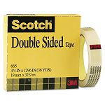 "665 Double-Sided Office Tape 34"" x 36 yards 3"" Core Clear (MMM665341296)"