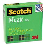 "Magic Office Tape 12"" x 1296"" 1"" Core Clear (MMM810121296)"