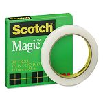 "Magic Office Tape 12"" x 72 yards 3"" Core Clear (MMM810122592)"