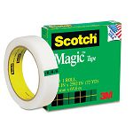"Magic Office Tape 1"" x 72 yards 3"" Core Clear (MMM81012592)"