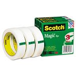 "Magic Tape 1"" x 2592"" 3"" Core 3 Rolls (MMM810723PK)"