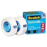 "Removable Tape 811-2PK 34"" x 1296"" 1"" Core 2 Rolls (MMM8112PK)"