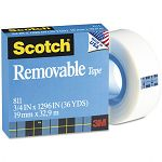 "Removable Tape 34"" x 1296"" 1"" Core (MMM811341296)"
