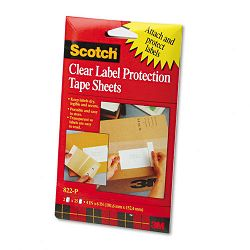 ScotchPad Label Protection Tape Pads 4 x 6 2 25-Sheet PadsPack (MMM822P)
