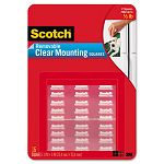 "Mounting Squares Precut Removable 1116"" x 1116"" Clear Pack of 35 (MMM859)"