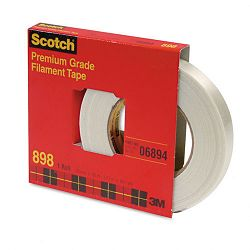 "High-Strength Filament Tape 34"" x 60 yards 3"" Core Clear (MMM89834)"