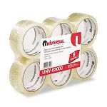 "Box Sealing Tape 2"" x 55 yards 3"" Core Clear 6 per Box (UNV63000)"