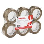 "Box Sealing Tape 2"" x 110 yards 3"" Core Tan 6 per Box (UNV63501)"