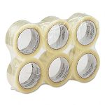 "Heavy-Duty Box Sealing Tape 2"" x 55 yards 3"" Core Clear 6 per Box (UNV93000)"
