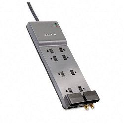 Office Series SurgeMaster Gray Surge Protector 8 Outlets 6ft Cord (BLKBE10823006)