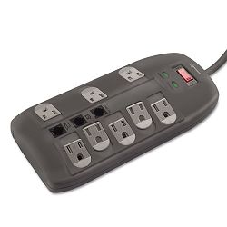 Surge Protector 8 Outlets 6ft Cord TelDSL 2160 Joules (IVR71656)