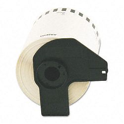 Continuous Length Shipping Label Tape for QL-1050 4in x 100ft Roll White (BRTDK2243)