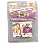 "TZ Photo-Safe Tape Cartridge for P-Touch Labelers 12""w Black on Clear (BRTTZAF131)"
