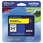 "TZe Standard Adhesive Laminated Labeling Tape 34""w Black on Yellow (BRTTZE641)"