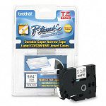 "TZ Super-Narrow Non-Laminated Tape for P-Touch Labeler 18""w Black on White (BRTTZEN201)"
