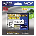 "TZe Extra-Strength Adhesive Laminated Labeling Tape 34""w Black on White (BRTTZES241)"
